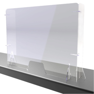 Perspex Screens with Returns-Free-Standing
